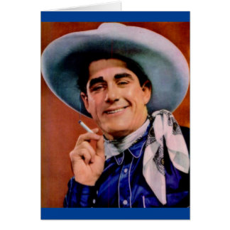 handsome cowboy with cigarette card
