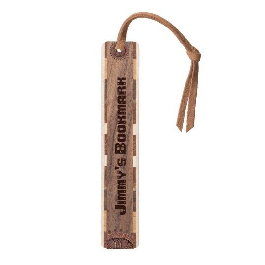 Handsome Custom Wooden Bookmark Walnut Bookmark