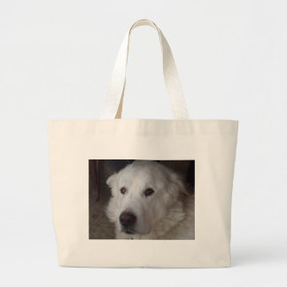 Handsome Great Pyrenees Dog Large Tote Bag
