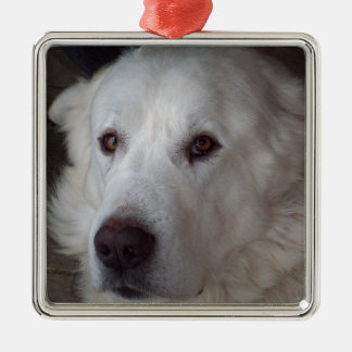 Handsome Great Pyrenees Dog Metal Ornament