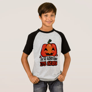 Handsome its Scary pumpkin laugh cool orange green T-Shirt