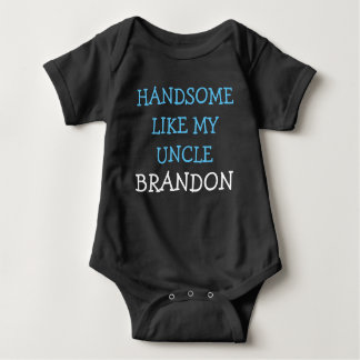 Handsome like my Uncle custom name baby boy shirt