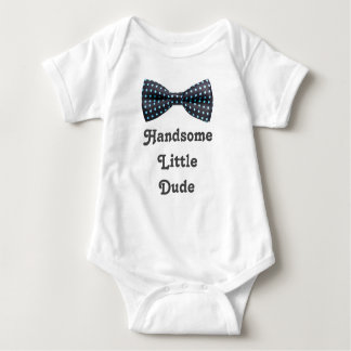 Handsome Little Dude Bowtie Baby Bodysuit