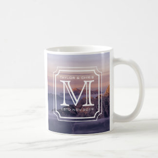 Handsome Monogram Beautiful Landscape Photo Simple Coffee Mug