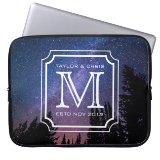 Handsome Monogram Beautiful Landscape Photo Simple Laptop Sleeve