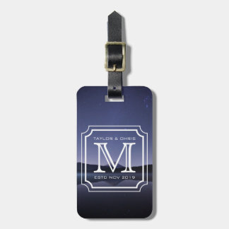 Handsome Monogram Beautiful Landscape Photo Simple Luggage Tag