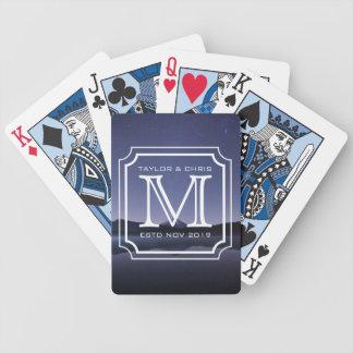 Handsome Monogram Beautiful Landscape Photo Simple Poker Deck