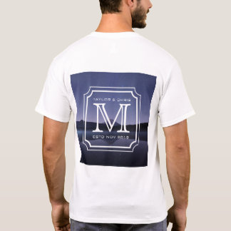 Handsome Monogram Beautiful Landscape Photo Simple T-Shirt