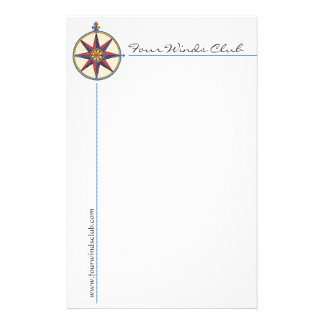 Handsome Nautical Stationery with Antique Compass