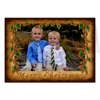 Handsome Photo Personalized Rustic Christmas Cards