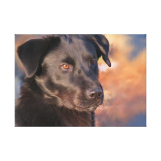 Handsome Portrait of a Black Lab Canvas Print