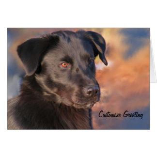 Handsome portrait of a black lab. card