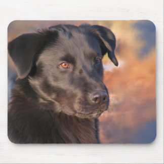 Handsome Portrait of a Black Lab Mouse Pad