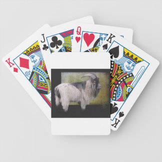 Handsome pygmy goat bicycle playing cards