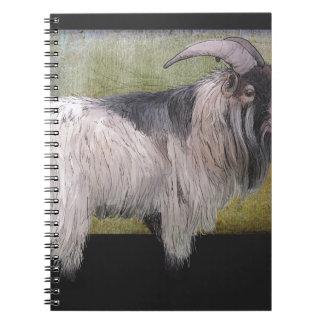 Handsome pygmy goat notebook