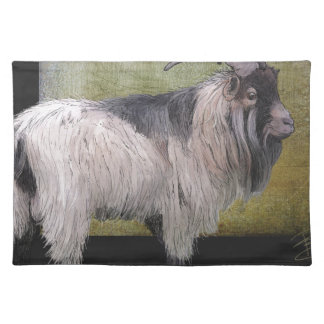 Handsome pygmy goat placemat