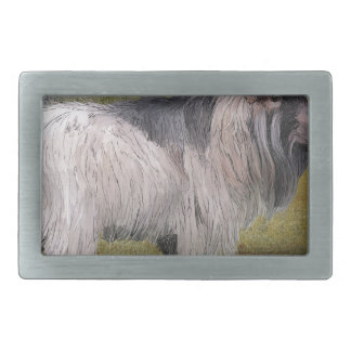 Handsome pygmy goat rectangular belt buckle