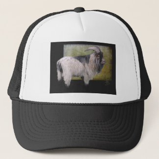 Handsome pygmy goat trucker hat