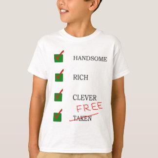 Handsome, rich, clever free Ex boyfriend tshirt