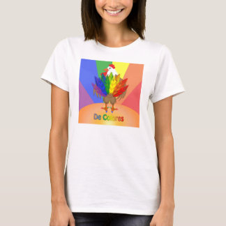 Handsome Rooster with De Colores T-Shirt