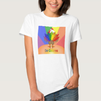Handsome Rooster with De Colores Tee Shirt