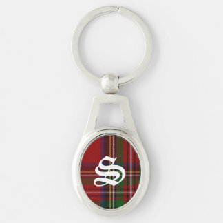 Handsome Royal Stewart Plaid Monogram Key Chain Key Chains