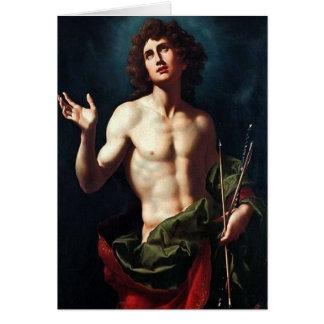 Handsome St. Sebastian Card