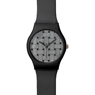 Handsome Stylish Black & Basket Weave Watch