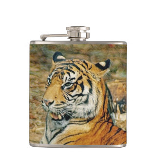 Handsome Tiger Hip Flask