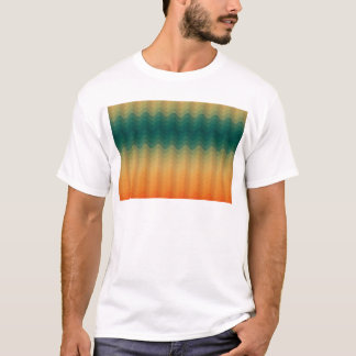 Handsome Vintage Abstract Blue and Gold Waves T-Shirt