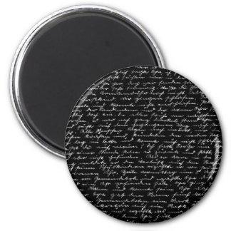 Handwriting 2 Inch Round Magnet