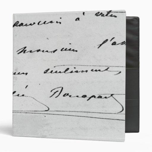 Handwriting and Signature Vinyl Binder