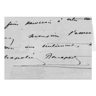 Handwriting and Signature Card