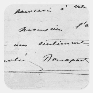 Handwriting and Signature Square Sticker