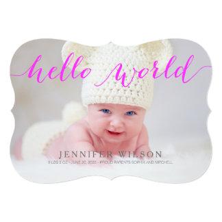 Handwriting Baby Birth Announcement Photo Card