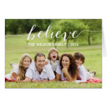 Handwriting Believe | Holiday Photo Greeting Card