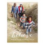 Handwriting Believe | Holiday Photo Postcard