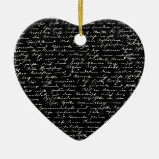 Handwriting Ceramic Heart Ornament