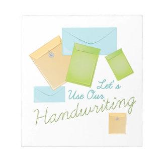 Handwriting Note Pad