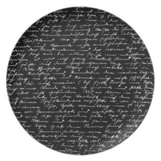Handwriting Plate