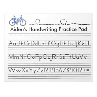 Handwriting Practice Memo Note Pads