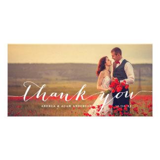 Handwriting Script | Wedding Thank You Photo Card