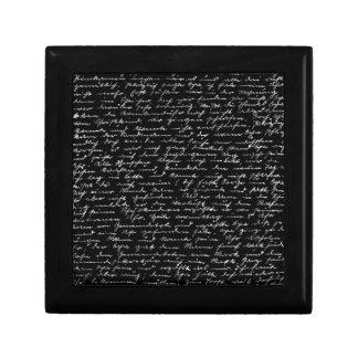 Handwriting Trinket Box