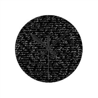 Handwriting Wall Clock