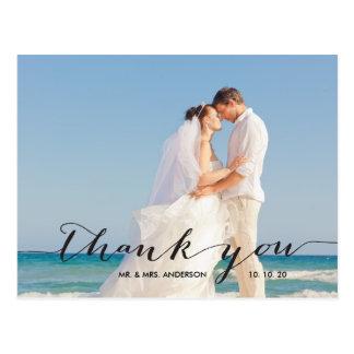 Handwriting | Wedding Photo Thank You Postcard