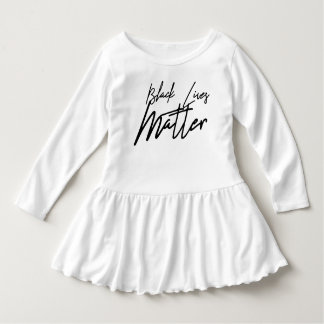 Handwritten Black Lives Matter Toddler Dress