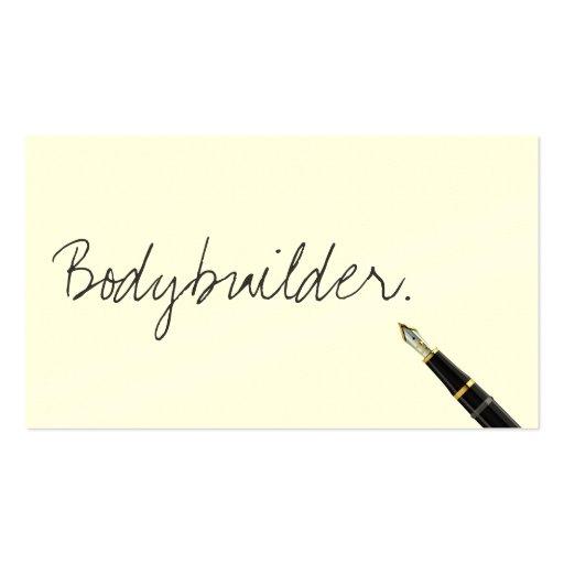 Handwritten Bodybuilding Business Card