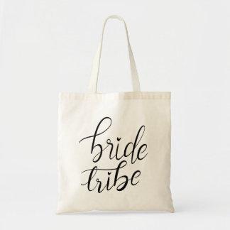 Handwritten Bride Tribe Script Casual Tote Bag