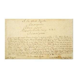 Handwritten dedication  'Brandenburger Concertos' Gallery Wrap Canvas