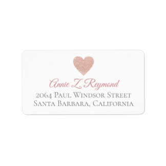 handwritten font address label rose heart of love
